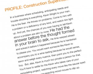 Construction Superintendent Profile